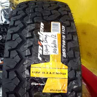 Monster AT-1 265/70R16 New Tyres