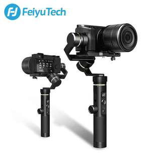 Feiyu G6 Plus 3-Axis Splash Proof Gimbal Stabilizer for Smartphone, Action Camera, DSLR Mirrorless Camera (Free M-07 Tripod)