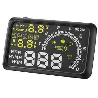 5.5英寸汽車HUD抬頭顯示車載速度發動機速度水溫顯示為OBD II EUOBD系統車輛