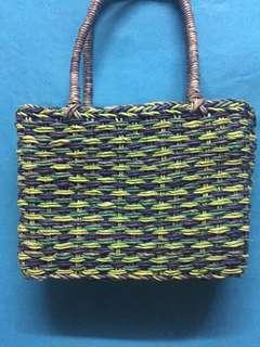 編織草編手挽袋