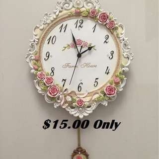 Must Sell-Victorian Style Clock-$15 Only