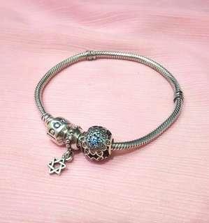 🚚 正品潘朵拉Pandora 手鍊(18cm含扣)含串珠一組