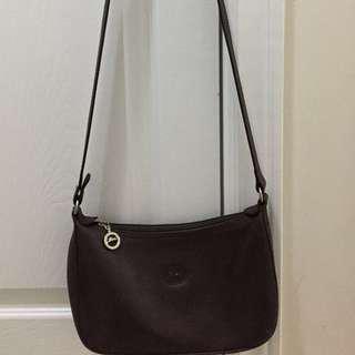 🔥 Price drop 🔥 Vintage Longchamp Crossbody  Leather- dark brown