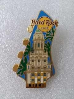Hard Rock Cafe Pins ~ MIAMI HOT 2007 GUITAR HEADSTOCK SERIES PIN!