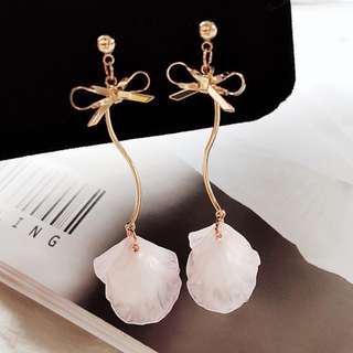Fairy Elegant Earring (Long Pink)