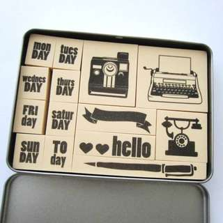 Rubber Stamps in Box
