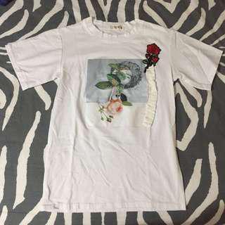 White shirt (flower)