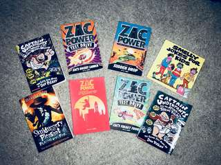 Storybooks x 8 fiction (Action) & (Humour)