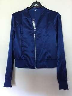🚚 藍色短版外套