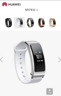 Huawei Talkband B3 Smart Watch Fitness Band - White