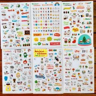 6 Sheets Sticker Set