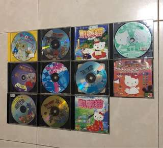 Tom & Jerry, kitty VCDs each $4, 4 for $10