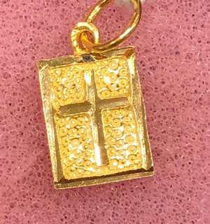 Gold (916) - ->> Gold Cross Pendent for Christians ❤️
