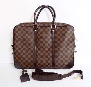 LV preloved laptop bag