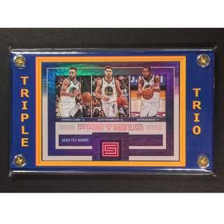 GS Warriors Trio SportsCard-K. Thompson, S. Curry, K. Durant