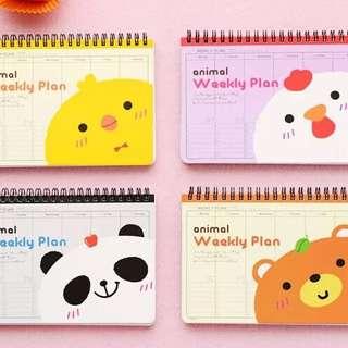 (PO)New Season Year 2018 Weekly Planner Animal /Totoro Design