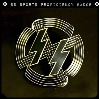 Nazi SS Sports Proficiency Badge Medal swastika Hitler medal World War Two Third Reich