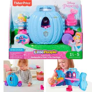 BNIB: Fisher Price Little People Disney Princess, Cinderella's Carriage
