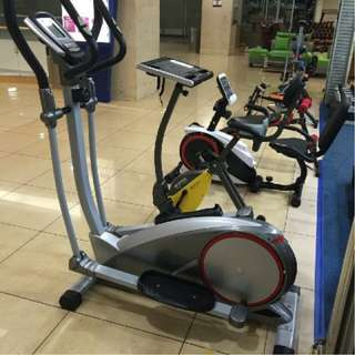 Alat Olahraga Home Use Sepeda Statis Elliptical Cross Trainer 2 in 1
