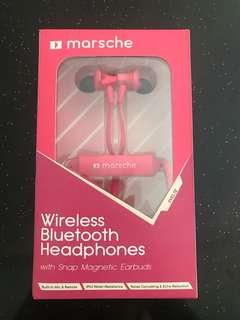 Marsche bluetooth pink headphones