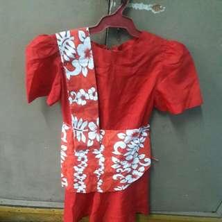 Filipiniana Costume ( 6 to 7 yrs old)