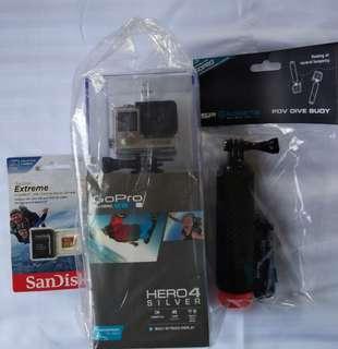GoPro Hero 4 Silver +MemoryCard+DiveStick