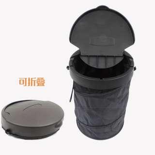 車載垃圾桶 NT$220元/個..預訂.. 材質:PP+條綸布 形狀:圓筒狀可以縮收 尺寸:16*4*20.5CM