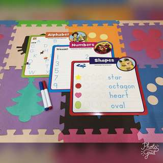 Children Learning Set (Wipe Clean Cards and Markers) #July70