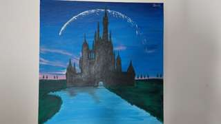Oil Painting - castle by Jessie
