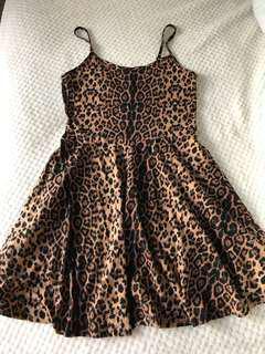 Animal print dress
