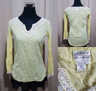 Summer blouse beach cover up