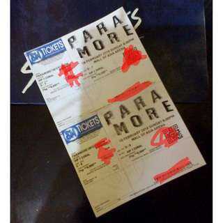 4 VIP Paramore Concert Tickets(reschedule on Aug.23) Tour Four Manila