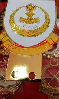 Perak small emblem badge logo for rear or front on plate usage