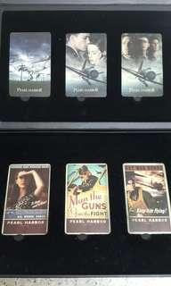 珍珠港,珍藏卡6張,有3張電話卡,3張珍藏卡,全新,2OO1年
