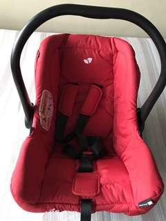 Joie baby car seat (red)
