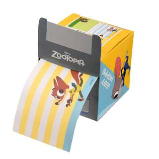 Japan Disneystore Disney Store Zootopia Roll Memo Pad with Box