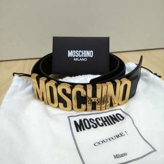 Brand New Moschino Belt in Black Leather