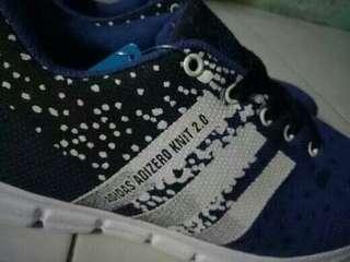 Sepatu adidas adizero biru hitam list putih