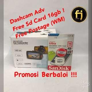 Promosi Berbaloi Dashcam Adv Free SD card + Free Postage (WM)
