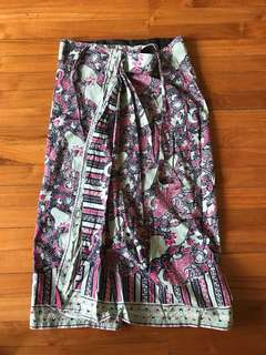 Batik wrap skirt S