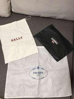 防塵袋 Prada Bally tissot