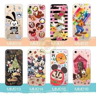 訂製多種型號 phone case 透明手機套 電話套 mickey Pluto goofy Oswald