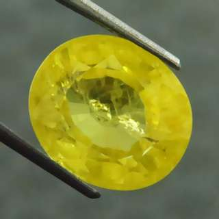 🚚 10.30 cts Lemon Yellow Sapphire Chatam Lab Treated Oval 13.3 mm x 11.4 mm