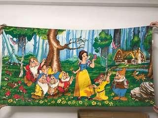 🈹🈹🈹絕版迪士尼白雪公主及7個小矮人毛巾🈹
