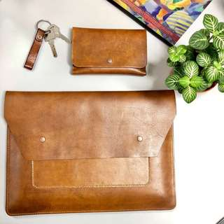 Hand crafter leather sleeves for Surface Pro