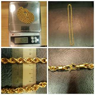 916 Gold rope Chain