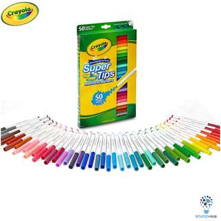 Crayola SuperTips | Nontoxic Washable Markers | Pack of 50 colours [CR-585050]