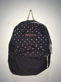 Jansport Black and White Polkadot Original