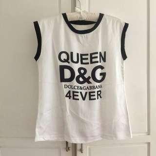 D&G satin top