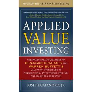 Applied Value Investing: The Practical Application of Benjamin Graham and Warren Buffett's Valuation Principles (ebook)